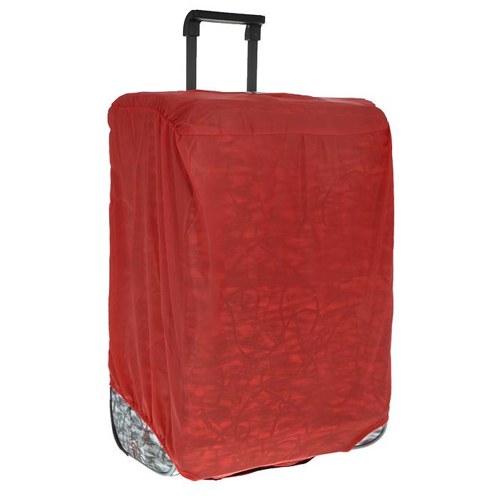 Чехол защитный для чемодана Eva, цвет: красный, 62 х 42 х 28 см К44К44Защитный чехол для чемодана Eva выполнен из водоотталкивающего материала - полиэстера. Чехол легко надевается и фиксируется при помощи липучек. Регулируется по высоте и степени наполненности. Чехол защитит ваш багаж от загрязнений, царапин и несанкционированного доступа, а также значительно продлит срок службы вашего чемодана. Размер чехла: 62 см х 42 см х 28 см.