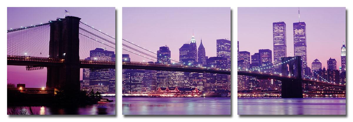 Канвас триптих Idea Мост. Нью-Йорк, 50 х 50 смIDEA CT2-03