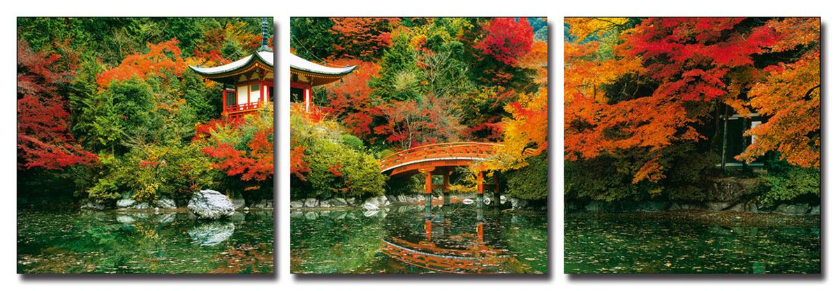 Канвас триптих Idea Япония, 150 х 50 смIDEA FL2-05Канвас - это ткань (полиэстер) с художественной фотопечатью, натянутая на деревянный каркас. Триптих включает три элемента, которые образуют единый рисунок. Такое изделие - оригинальный декоративный элемент, способный преобразить любой интерьер. Картина оформлена красочным пейзажем осени в Японии. С задней стороны имеются петельки для подвешивания к стене. Элементы следует размещать на стене, оставляя между ними небольшой промежуток. Стильный, современный дизайн, а также яркие и насыщенные цвета сделают эту картину прекрасным дополнением интерьера комнаты.