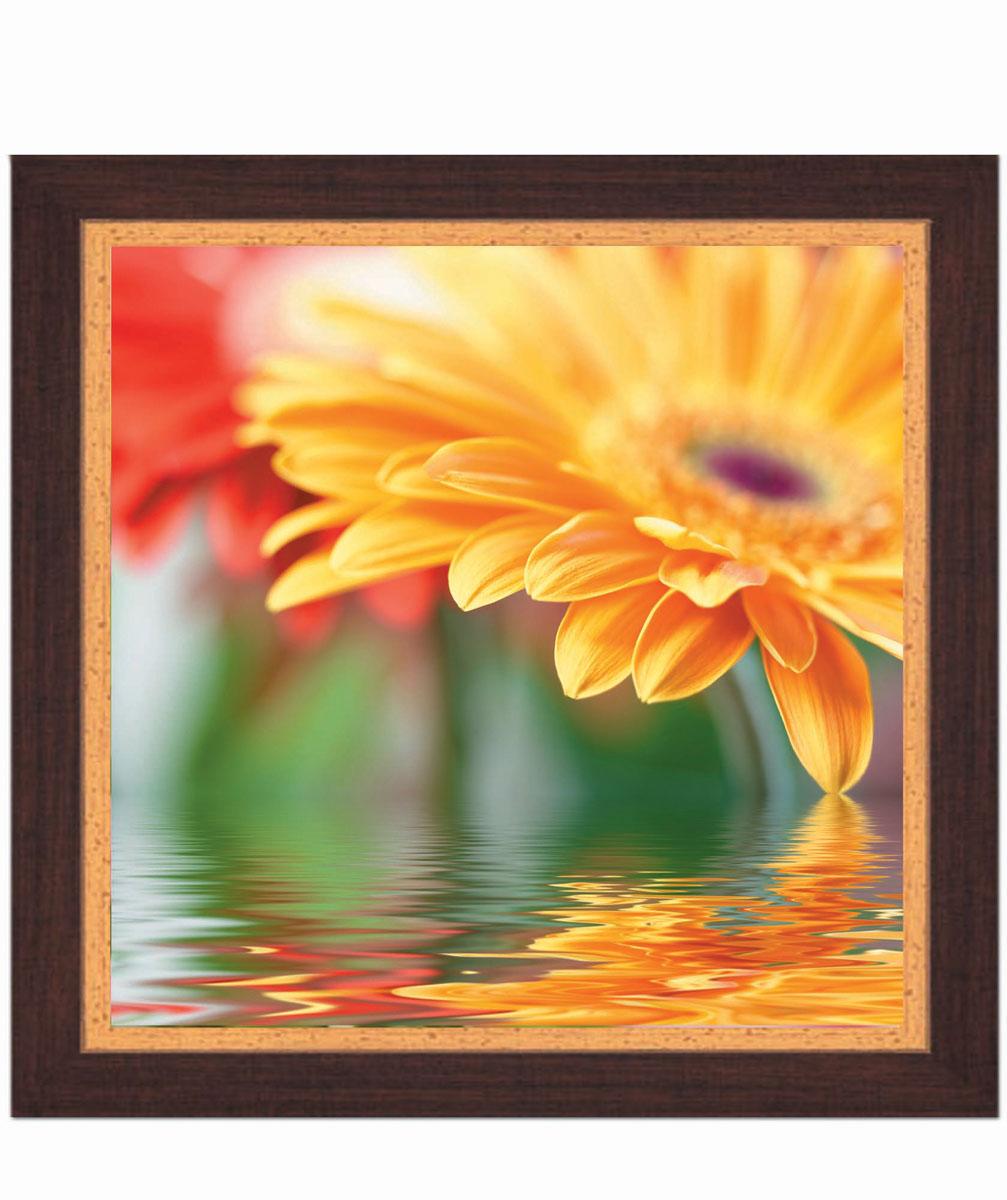 Постер в раме Postermarket Желтая хризантема, 30 см х 30 смPM-3007Картина для интерьера (постер) - современное и актуальное направление в дизайне любых помещений. Постер с красочным изображением желтой хризантемы оформлен в раму коричневого цвета, выполненную из пластика под дерево. Картина защищена прозрачным пластиком. С задней стороны имеется петелька для подвешивания к стене. Картина может использоваться для оформления любых интерьеров: - дом, квартира (гостиная, спальня, кухня, прихожая, детская); - офис (комната переговоров, холл, кабинет); - бар, кафе, ресторан или гостиница. Картины, предоставляемые компанией Постермаркет: - собраны вручную из лучших импортных комплектующих; - надежно упакованы в пленку с противоударными уголками.