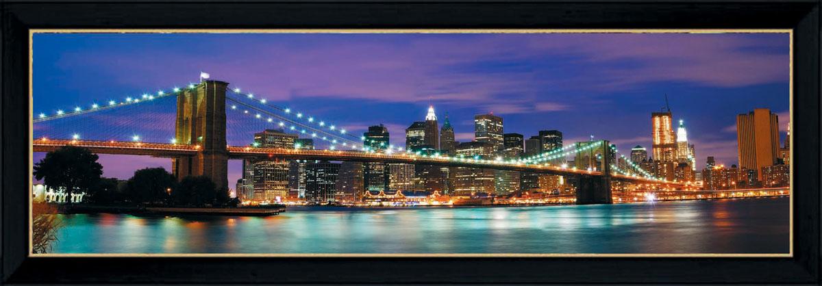 """Постермаркет / Postermarket Постер в раме Postermarket """"Бруклинский мост"""", 95 х 33 см"""