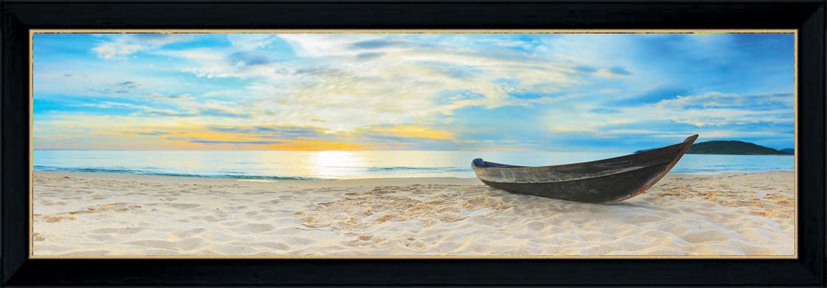 Постер в раме Postermarket Лодка на пляже, 95 см х 33 смPM-3303Картина для интерьера (постер) - современное и актуальное направление в дизайне любых помещений. Постер с красочным изображением лодки на пляже оформлен в раму черного цвета, выполненную из пластика. Картина защищена прозрачным пластиком. С задней стороны имеются петельки для подвешивания к стене. Картина может использоваться для оформления любых интерьеров: - дом, квартира (гостиная, спальня, кухня, прихожая, детская); - офис (комната переговоров, холл, кабинет); - бар, кафе, ресторан или гостиница. Картины, предоставляемые компанией Постермаркет: - собраны вручную из лучших импортных комплектующих; - надежно упакованы в пленку с противоударными уголками.