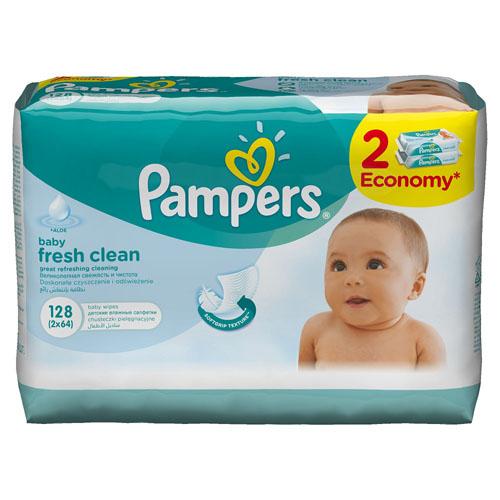 Салфетки детские увлажненные Pampers Baby Fresh Clean, 2х64 штPA-81448477Великолепная свежесть и чистота! Чтобы сохранить кожу малыша здоровой, ее необходимо регулярно очищать. При этом купать малыша рекомендуется не чаще, чем 1 раз в 2–3 дня. Но подарить детской коже ощущение свежести, как после купания, можно с помощью салфеток Pampers Baby Fresh Clean. Детские влажные салфетки Pampers Baby Fresh Clean содержат только мягкие компоненты, придающие коже малыша свежесть и сияние. Влажные салфетки Pampers увлажняют и ухаживают за чувствительной детской кожей лучше, чем просто вода. - Уникальная мягкая текстура ™. - Лосьон с ромашкой для здоровья нежной кожи малыша. - Без содержания спирта. - Дерматологически протестировано. Состав бальзама: AQUA, CITRIC ACID, PEG-40 HYDROGENATED CASTOR OIL, BENZYL ALCOHOL, SODIUM CITRATE, PHENOXYETHANOL, XANTHAN GUM, SODIUM BENZOATE, DISODIUM EDTA, BIS-PEG/PPG-16/16 PEG/PPG-16/16 DIMETHICONE, PARFUM, ETHYLHEXYLGLYCERIN, CAPRYLIC/CAPRIC TRIGLYCERIDE, MALTODEXTRIN, ALOE BARBADENSIS...