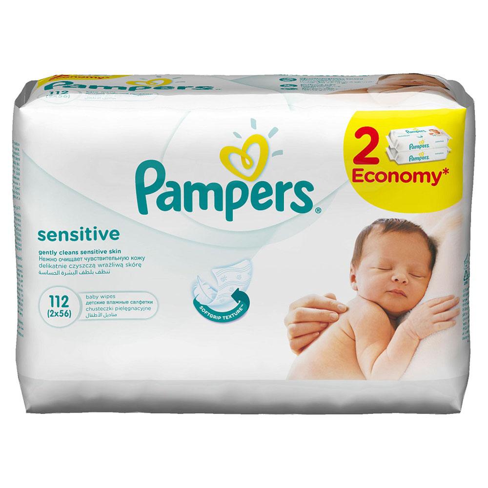 Pampers Детские влажные салфетки Sensitive 112 шт