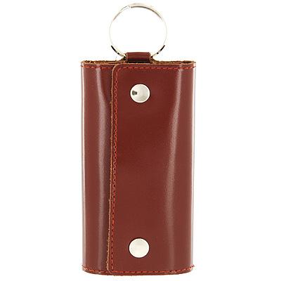 Ключница Befler Classic, цвет: коричневый. KL.3.-1KL.3.-1.cognacКомпактная ключница Befler Classic - стильная вещь для хранения ключей. Ключница, закрывающаяся на две кнопки, выполнена из натуральной кожи высокого качества. Внутри ключницы расположены шесть металлических карабинов для ключей и дополнительное наружное кольцо для крепления.