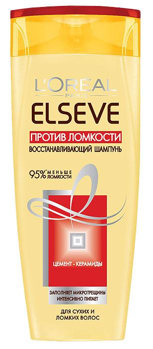 LOreal Paris Elseve Шампунь Эльсев, Против ломкости, восстанавливающий, для ломких волос и секущихся кончиков, 400 мл