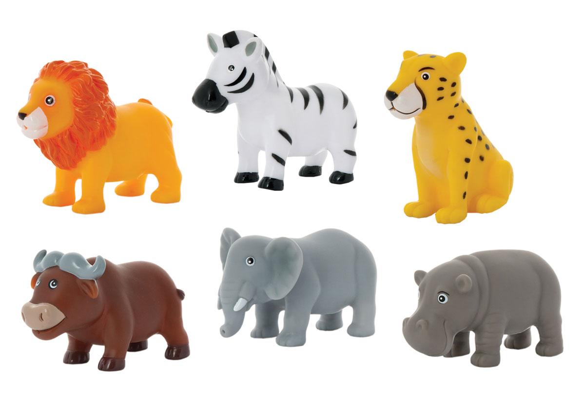 Набор игрушек для ванны Курносики Животные Африки, 6 шт25133Набор игрушек для ванны Курносики Животные Африки, непременно, понравится вашему ребенку и превратит купание в веселую игру! В набор входят шесть ярких игрушек, выполненных из ПВХ в виде очаровательных животных. Если сжать их во время купания в ванне, они начинают забавно брызгаться водой. Набор игрушек для ванны Курносики Животные Африки способствует развитию у ребенка воображения, цветового восприятия, тактильных ощущений и мелкой моторики рук. Оригинальный стиль и великолепное качество исполнения делают этот набор чудесным подарком к любому празднику, а жизнерадостные образы представят его в самом лучшем свете.
