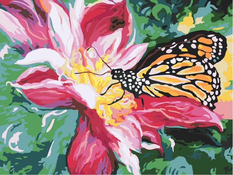 Нарисованные цветы акриловыми красками