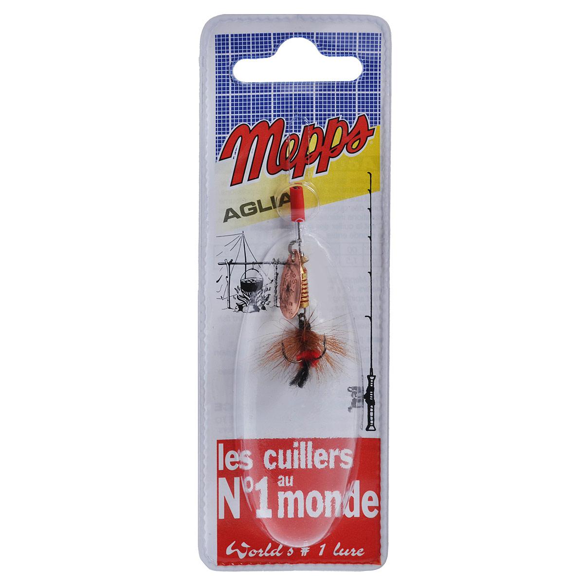 Блесна Mepps Aglia CU Mouch. Rouge, вращающаяся, №005747Вращающаяся блесна Mepps Aglia CU Mouch. Rouge оснащена мушкой из натурального беличьего хвоста, это очень эффективные приманки для ловли жереха, голавля, язя, окуня и других видов рыб, особенно в периоды массового вылета насекомых. Aglia Mouche - некрупная блесна, которая особенно подходит для летней ловли рыбы (особенно осторожной) на мелководье.