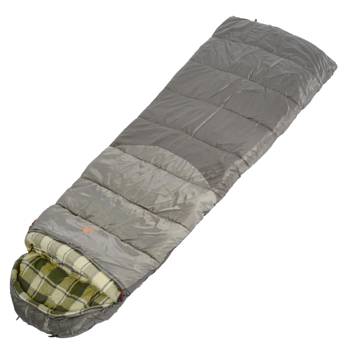 Спальный мешок-одеяло Alexika Canada plus, цвет: серый, правосторонняя молния. 9266.010719266.01071Вы выезжаете на рыбалку или охоту вплоть до зимних холодов. Уникальное предложение - спальный мешок-одеяло Canada. Большой объем утеплителя в 650 г/м2, мягкая и теплая внутренняя фланель, увеличенные размеры для комфортного сна. Размер в чехле: 56/46 см x 43 см. Внешняя ткань: верх Polyester 190T. Внешняя ткань низ:- Polyester 190T Diamond RipStop PU 250 mm H2O. Внутренняя ткань: Flannel. Утеплитель: APF-Isoterm 3D.