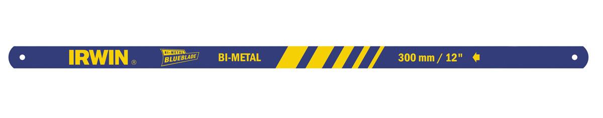 Полотно ножовочное по металлу Irwin, биметаллическое, 24 зуба/дюйм, длина 30 см, 2 шт10504524Биметаллическое полотно Irwin с точным предназначено для всех видов работ по металлу. Полотно изготовлено из прочной и гибкой пружинной стали.