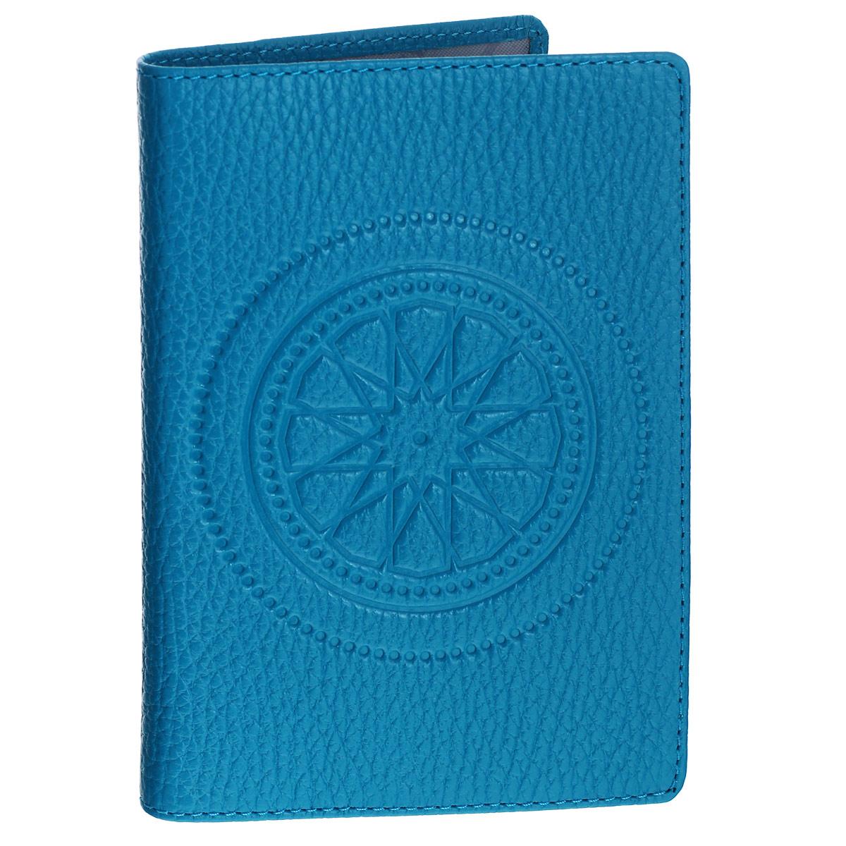 """Обложка для паспорта Askent """"Talisman"""", цвет: голубой. O.65.SN Fabula O.65.SN. голубой"""