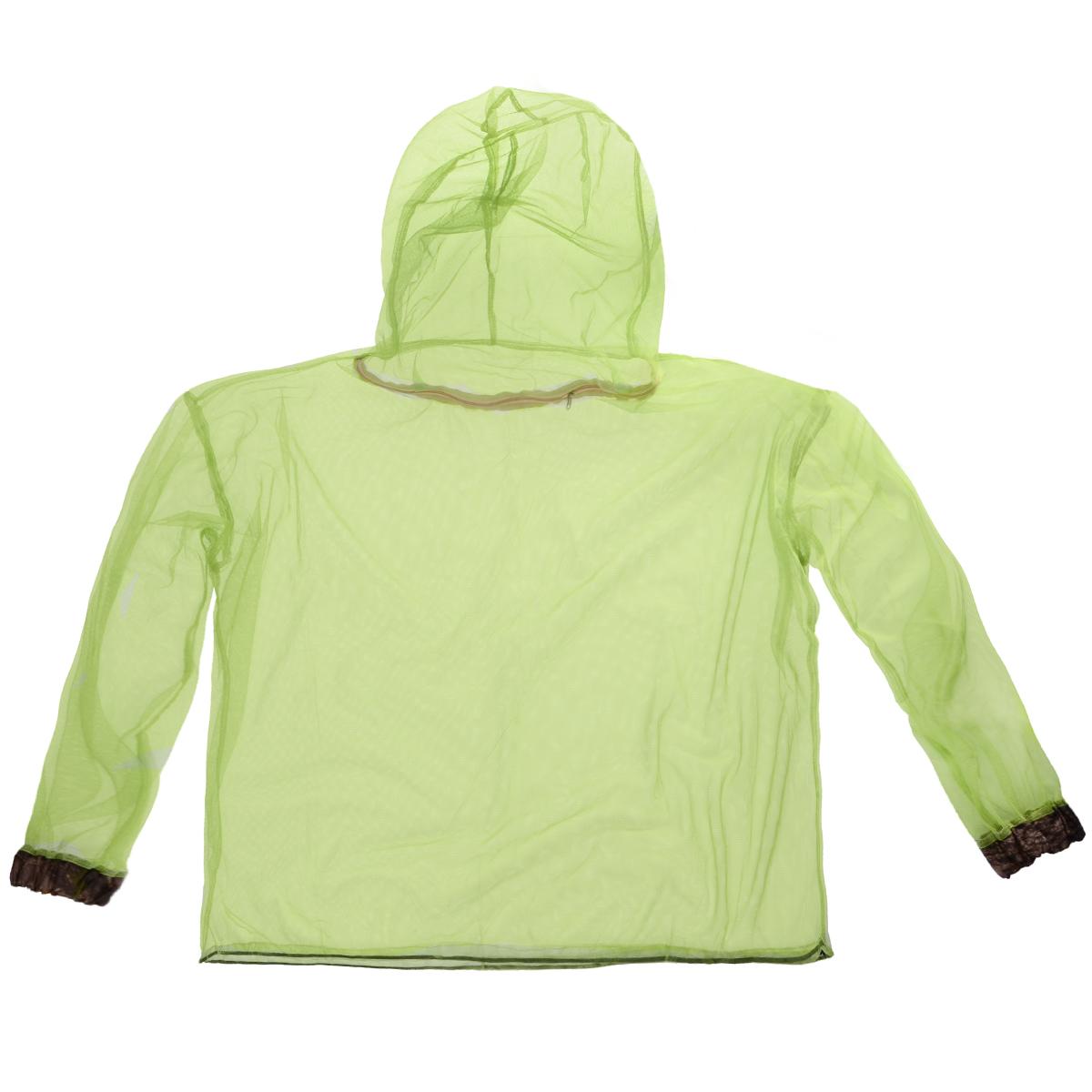 Куртка противомоскитная Eva. К41К41Противомоскитная куртка Eva изготовлена из сетчатого полиэстера. Мельчайший размер ячеек сетки обеспечивает высокую защиту от самых мелких кровососущих насекомых: мошек, москитов, комаров, клещей. Низ куртки оснащен удобным затяжным шнурком с фиксатором, манжеты на резинках. Также имеет удобный капюшон на молнии.