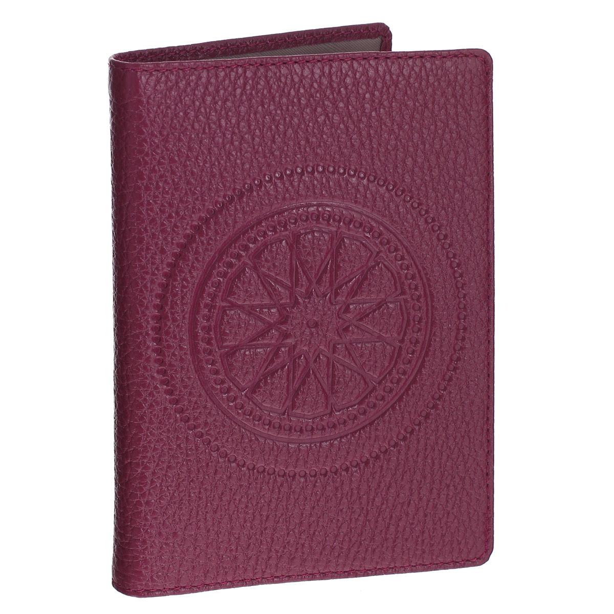 """Обложка для паспорта Askent """"Talisman"""", цвет: малиновый. O.65.SN Fabula O.65.SN. малиновый"""