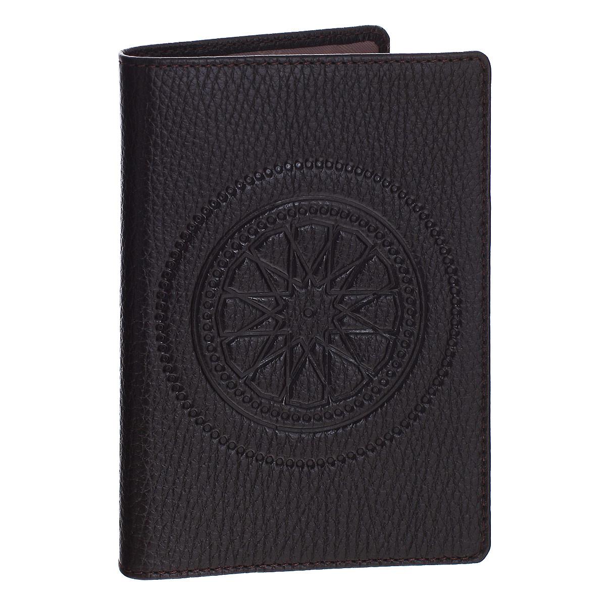 """Обложка для паспорта Askent """"Talisman"""", цвет: коричневый. O.65.SN Fabula O.65.SN. шоколадный"""