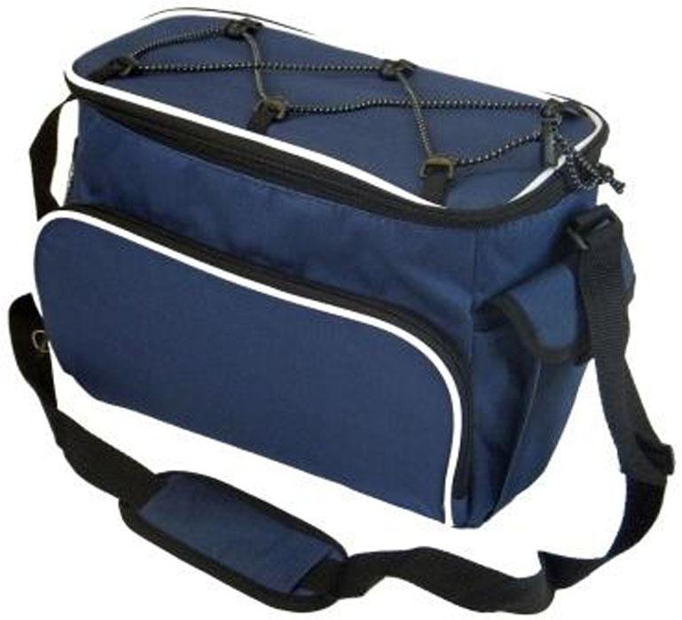 Сумка изотермическая Nantong, цвет: синий, 10 лВ8103Изотермическая сумка Nantong - это великолепное средство хранения скоропортящихся продуктов. Изотермическая сумка, с применением аккумуляторов холода, сохраняет продукты в замороженном виде в течении 10-12 часов. Для сумки объемом 10 л достаточно 2-3 аккумуляторов холода. Основная секция закрывается на замок. Имеется дополнительный внешний отдел и ручка для удобства переноски.