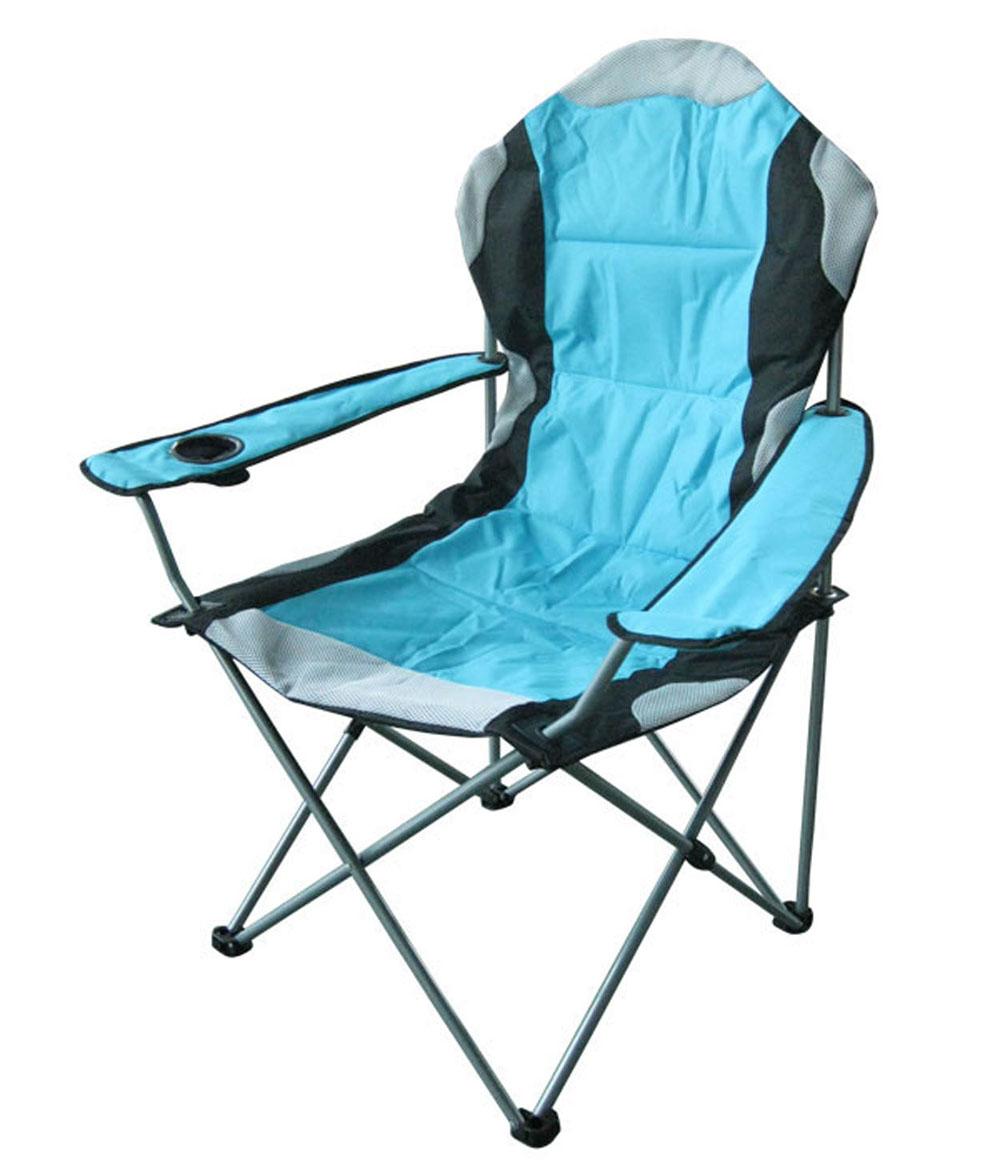 Кресло кемпинговое складное RekingCК-009Складное кемпинговое кресло Reking с широким сиденьем и мягкими подлокотниками станет незаменимым предметом в походе, на природе, на рыбалке, а также на даче. Кресло имеет прочный стальной каркас и покрытие из полиэстера, оно легко собирается и разбирается и не занимает много места, поэтому подходит для транспортировки и хранения дома.