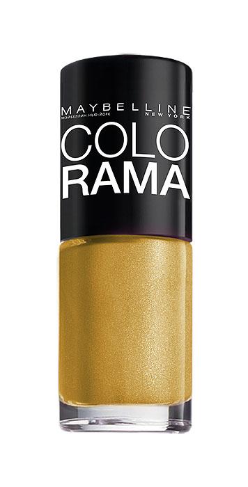 Maybelline New York Лак для ногтей Colorama, оттенок 108, Золотой песок, 7 млB2072503Самая широкая палитра оттенков новых лаков Колорама. Яркие модные цвета с подиума. Новая формула лака Колорама обеспечивает стойкое покрытие и создает еще более дерзкий, насыщенный цвет, который не тускнеет. Усовершенствованная кисточка для более удобного и ровного нанесения, современная упаковка. Лак для ногтей Колорама не содержит формальдегида, дибутилфталата и толуола.