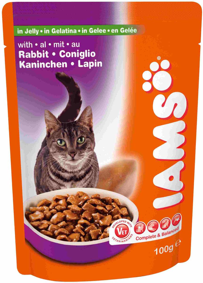 Консервы для кошек Iams, с кроликом, 100 г81097010Консервы Iams являются полноценным и сбалансированным кормом для взрослых кошек возрастом от 1 до 7 лет с кроликом в желе. В рацион домашнего любимца нужно обязательно включать консервированный корм, ведь его главные достоинства - высокая калорийность и питательная ценность. Консервы лучше усваиваются, чем сухие корма. Также важно, что животные, имеющие в рационе консервированный корм, получают больше влаги. Iams - корм суперпремиум класса, содержащий высокий уровень животного протеина и жиров, идеальный выбор для кошки. Iams превосходно комбинирует два таких важных элемента хорошего корма как великолепный вкус и высокая усвояемость. Состав: мясо и дериваты животного происхождения (более 24% курицы и домашней птицы, более 3% свинины, более 4% кролика), масла и жиры (в т.ч. 0,2% рыбьего жира), дериваты растительного происхождения (в т.ч. 0,6% волокон пульпы сахарной свеклы), минералы, сахара. Пищевая ценность: белок - 8%, жир - 5%, сырая...