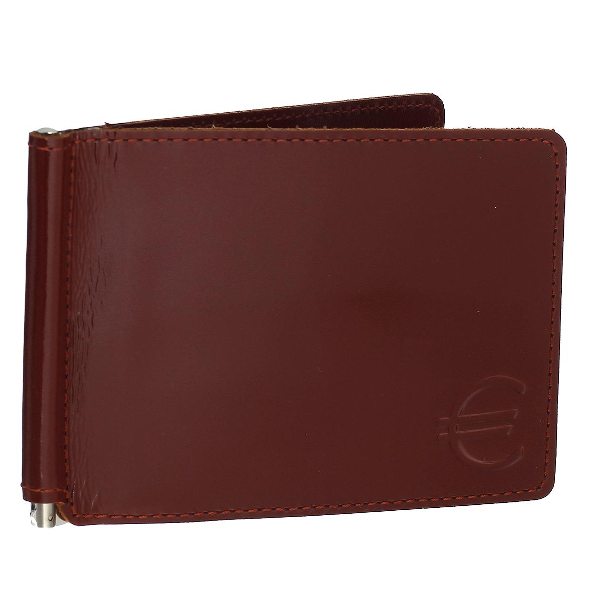 Зажим для купюр Befler Classic, цвет: коричневый. Z.6.-1Z.6.-1.cognacЗажим для купюр Befler Classic выполнен из натуральной кожи и оформлен тиснением в виде знака евро. На внутреннем развороте удобная металлическая фурнитура и 6 карманов для кредитных карт. Такой зажим станет отличным подарком для человека, ценящего качественные и красивые вещи.