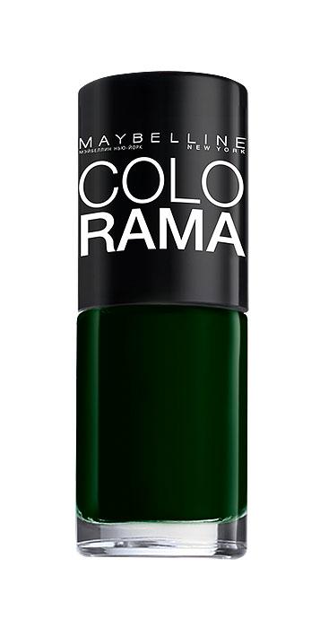 Maybelline New York Лак для ногтей Colorama, оттенок 270, Зеленый бархат, 7 млB2338402Самая широкая палитра оттенков новых лаков Колорама. Яркие модные цвета с подиума. Новая формула лака Колорама обеспечивает стойкое покрытие и создает еще более дерзкий, насыщенный цвет, который не тускнеет. Усовершенствованная кисточка для более удобного и ровного нанесения, современная упаковка. Лак для ногтей Колорама не содержит формальдегида, дибутилфталата и толуола.