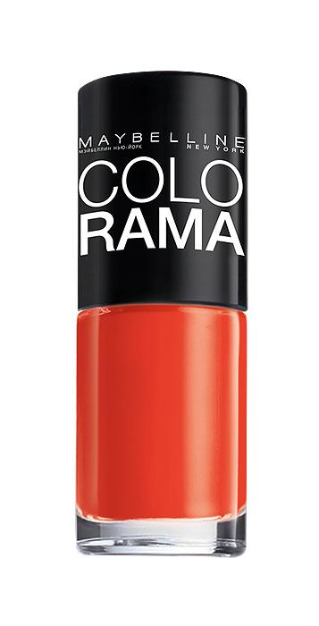 Maybelline New York Лак для ногтей Colorama, оттенок 313, Сочный апельсин, 7 млB2341303Самая широкая палитра оттенков новых лаков Колорама. Яркие модные цвета с подиума. Новая формула лака Колорама обеспечивает стойкое покрытие и создает еще более дерзкий, насыщенный цвет, который не тускнеет. Усовершенствованная кисточка для более удобного и ровного нанесения, современная упаковка. Лак для ногтей Колорама не содержит формальдегида, дибутилфталата и толуола.