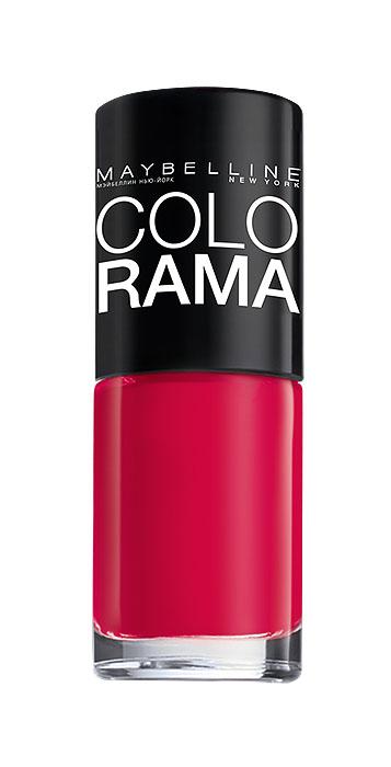 Maybelline New York Лак для ногтей Colorama, оттенок 318, Огненный розовый, 7 млB2341802Самая широкая палитра оттенков новых лаков Колорама. Яркие модные цвета с подиума. Новая формула лака Колорама обеспечивает стойкое покрытие и создает еще более дерзкий, насыщенный цвет, который не тускнеет. Усовершенствованная кисточка для более удобного и ровного нанесения, современная упаковка. Лак для ногтей Колорама не содержит формальдегида, дибутилфталата и толуола.