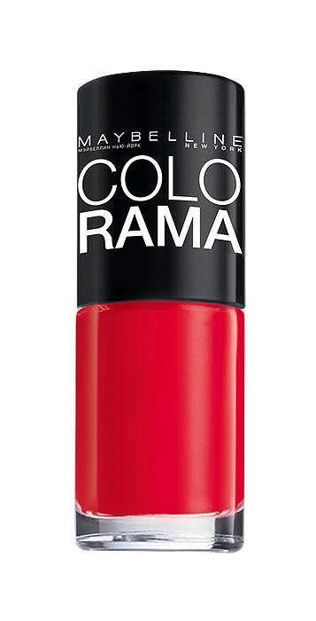 Maybelline New York Лак для ногтей Colorama, оттенок 322, Роскошный красный, 7 млB2342203Самая широкая палитра оттенков новых лаков Колорама. Яркие модные цвета с подиума. Новая формула лака Колорама обеспечивает стойкое покрытие и создает еще более дерзкий, насыщенный цвет, который не тускнеет. Усовершенствованная кисточка для более удобного и ровного нанесения, современная упаковка. Лак для ногтей Колорама не содержит формальдегида, дибутилфталата и толуола.