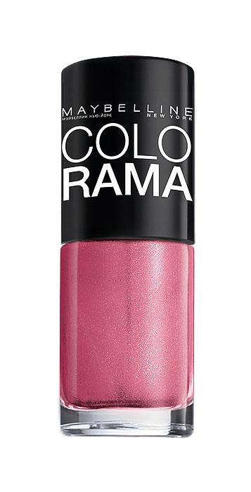 Maybelline New York Лак для ногтей Colorama, оттенок 327, Мерцающий розовый, 7 млB2342703Самая широкая палитра оттенков новых лаков Колорама. Яркие модные цвета с подиума. Новая формула лака Колорама обеспечивает стойкое покрытие и создает еще более дерзкий, насыщенный цвет, который не тускнеет. Усовершенствованная кисточка для более удобного и ровного нанесения, современная упаковка. Лак для ногтей Колорама не содержит формальдегида, дибутилфталата и толуола.