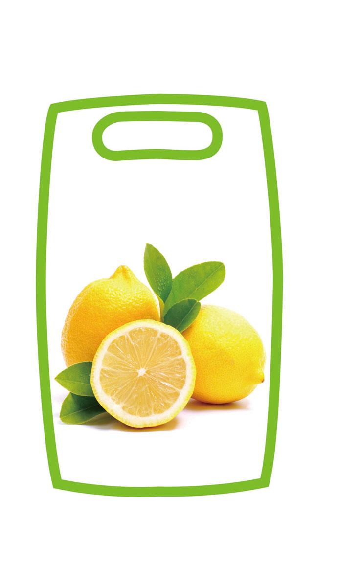 Доска разделочная Hausmann Лимон, 31 см х 19,5 см х 1 смHM-305202-3Разделочная доска Hausmann Лимон, изготовленная из высококачественного пищевого пластика, займет достойное место среди аксессуаров на вашей кухне. Лицевая сторона изделия украшена изображением лимонов. Доска оснащена удобной ручкой. Доска Hausmann Лимон прекрасно подойдет для нарезки любых продуктов. Она устойчива к деформации, не разрушается, легко моется.