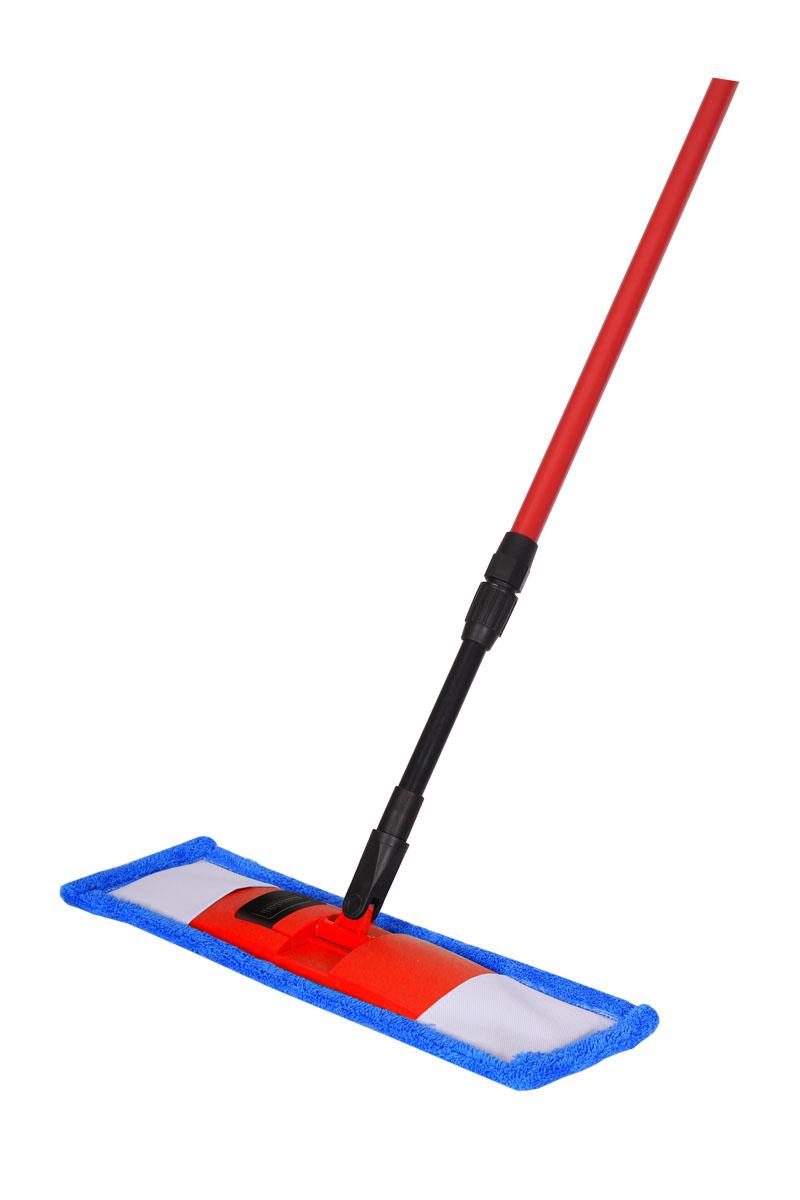 Швабра Hausmann, с телескопической ручкой, 75-130 см. P-211P-211Швабра Hausmann предназначена для сухой и влажной уборки полов с любым типом напольной поверхности: кафель, паркет, ламинат, линолеум. Металлическая телескопическая ручка позволяет отрегулировать швабру по высоте для удобного использования. Материал насадки - шинил (микрофволокно), который обладает высокой износостойкостью, не царапает поверхности и отлично впитывает влагу. Складывающийся механизм швабры позволяет легко заменить насадку. Для снятия насадки надо нажать на кнопку держателя ногой и потянуть ручку вверх. При надевании насадки на швабру насадку положить на пол и поставить сверху держатель. Оба конца держателя вставить в карманы насадки, надавить на ручку, расправить насадку и зафиксировать насадку до лёгкого щелчка держателя. Длина ручки: 75-130 см. Размер насадки: 44 х 14 см.