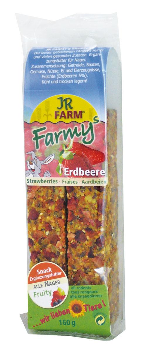 Лакомство для грызунов JR Farm Палочки, с клубникой, 120 г25592/6264Лакомство для грызунов JR Farm Палочки с яйцом, клубникой и множеством полезных для здоровья ингредиентов. Дополнительный корм для грызунов. Состав: злаки, семена, овощи, орехи, яйцо и продукты яйца, фрукты (земляника 5%), побочные продукты растительного происхождения. Содержание: белок 13,9%, жиры 15,2%, клетчатка 8,7%, зола 2,4%, крахмал — 1%. Товар сертифицирован.
