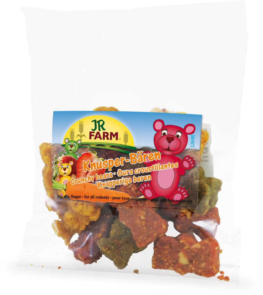 Лакомство для грызунов JR Farm Медвежата хрустящие, 30 г37124Лакомство для грызунов JR Farm Медвежата хрустящие с морковью, клубникой, свеклой и шпинатом. Снэк предназначен в качестве закуски. Дополнительный корм для всех видов грызунов. Состав: злаки, овощи (морковь 26,8%, шпинат 0,6%, свекла 0,6%), орехи, яйца и яичные продукты, фрукты (клубника 0,3%). Товар сертифицирован.