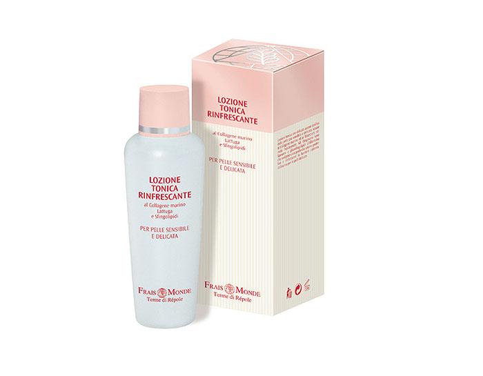 Frais Monde Лосьон-тоник для очищения кожи лица и снятия макияжа, успокаивающий, для тонкой и чувствительной кожи, склонной к покраснению или куперозу, 200 мл