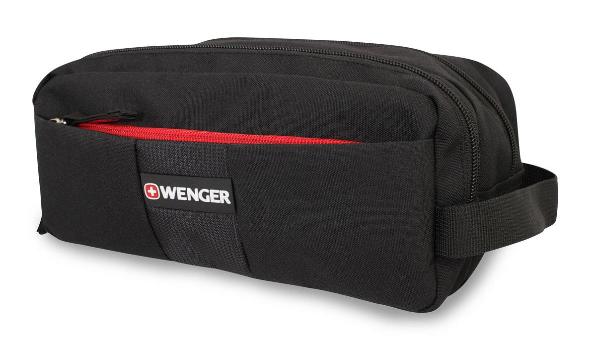 Несессер Wenger, цвет: черный, 26 см x 16 см x 15 см6085013Компактная и легкая сумка послужит вам незаменимым спутником в деловых поездках и кратковременных путешествиях. Обладая небольшими размерами, всегда будет под рукой. Данная модель выполнена из легкой, очень прочной ткани, которая быстро сохнет, великолепно сохраняет форму, устойчива к световому и тепловому воздействию и проста в уходе. Внутри предусмотрены удобные карманы для туалетных принадлежностей. Особенности: Ручка для переноски; Основное отделение с карманом из сетки на молнии, карман из полиэтилена на молнии; Три кармана из сетки на резинке; Крючок для подвеса; Внешний карман на молнии. По всем вопросам гарантийного и постгарантийного обслуживания рюкзаков, чемоданов, спортивных и кожаных сумок, а также портмоне марок Wenger и SwissGear вы можете обратиться в сервис-центр, расположенный по адресу: г. Москва, Саввинская набережная, д.3. Тел: (495) 788-39-96, (499) 248-56-56, ежедневно с 9:00 до 21:00. ...