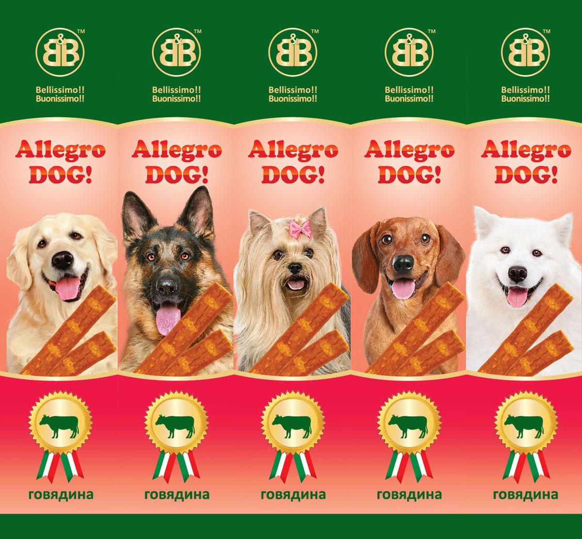 Лакомство для собак B&B Колбаски Allegro Dog, говядина, 5х10 г36447Лакомство для собак B&B Колбаски Allegro Dog - это вкусное и здоровое угощение с большим содержанием мяса, которое придется по вкусу даже самому капризному любимцу. Колбаски идеально подходят в качестве поощрения для игр и тренировок. Состав: мясо и продукты животного происхождения (минимум 95% из которых 10% говядина), минеральные соли. Пищевая ценность: протеин 33,5%, жиры 20%, зола 9%, клетчатка 2%, влажность 28%. Товар сертифицирован.