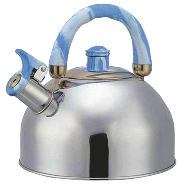 Чайник Bohmann со свистком, цвет: голубой, 4,5 л. BHL-641