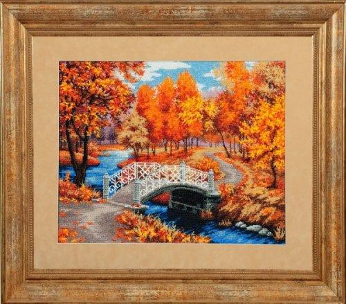 Набор для вышивания бисером Осенняя мелодия, 50 х 41 см П-009353040