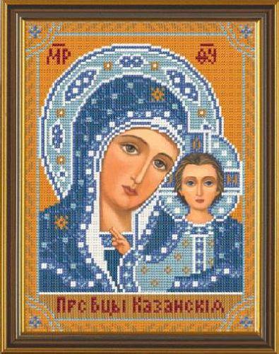 Набор для вышивания бисером Богородица Казанская, 18 х 25 см354027