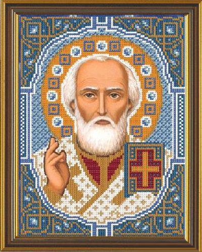 Набор для вышивания бисером Святой Николай Чудотворец, 18 см х 25 см354028