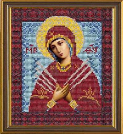 Набор для вышивания бисером Богородица Семистрельная, 18 х 25 см354031