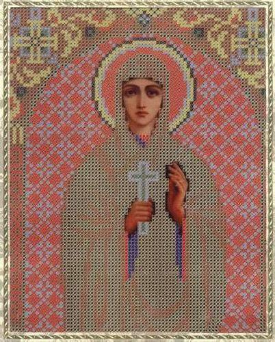 Набор для вышивания бисером Святая Мученица Валентина, 18 см х 25 см354058