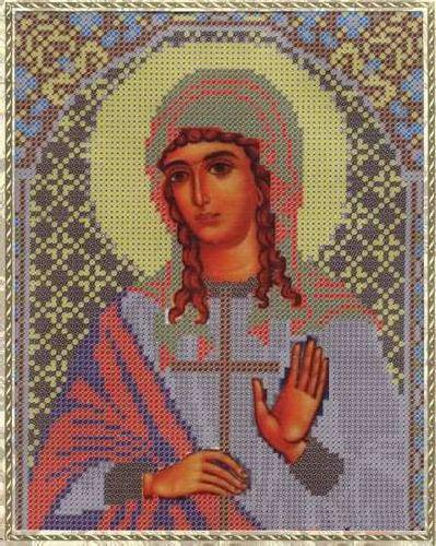 Набор для вышивания бисером Святая Мученица Лидия, 18 х 25 см354079