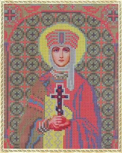 Набор для вышивания бисером Святая Равноапостольная Ольга, 18 см х 25 см354085