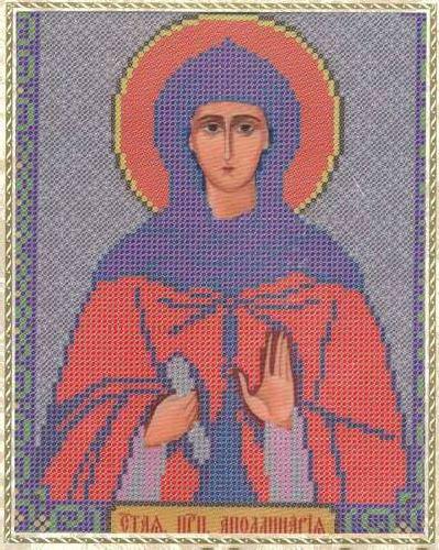 Набор для вышивания бисером Святая Преподобная Апполинария, 18 х 25 см354086
