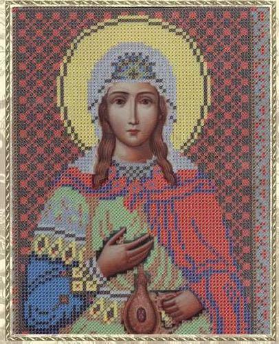 Набор для вышивания бисером Святая Мученица Фотина (Светлана), 18 см х 25 см354088