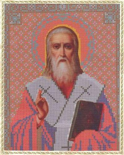 Набор для вышивания бисером Святой Дионисий, 18 см х 25 см354117