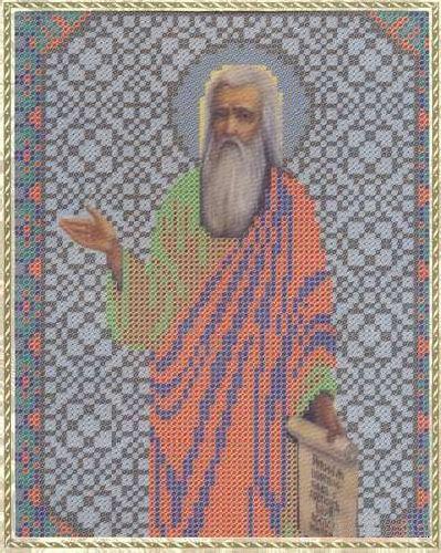 Набор для вышивания бисером Святой пророк Илия, 18 см х 25 см354122