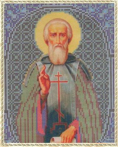 Набор для вышивания бисером Святой Сергий, 18 см х 25 см354132