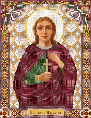 Набор для вышивания бисером Святая Мученица Надежда, 18 см х 25 см354194